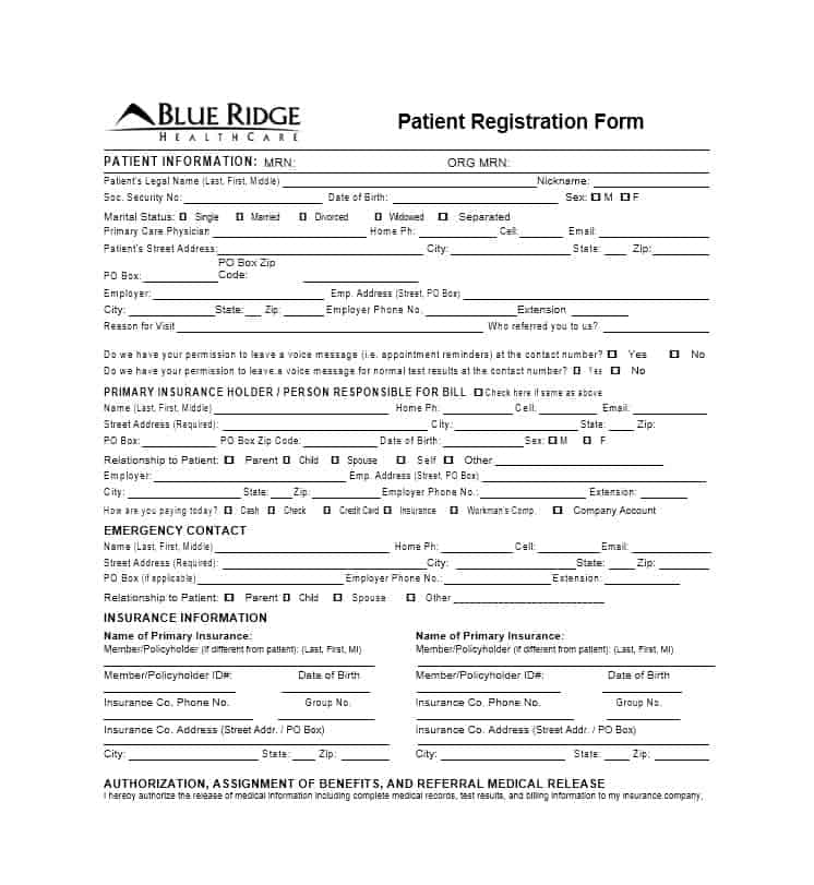 Patient Registration Form 08