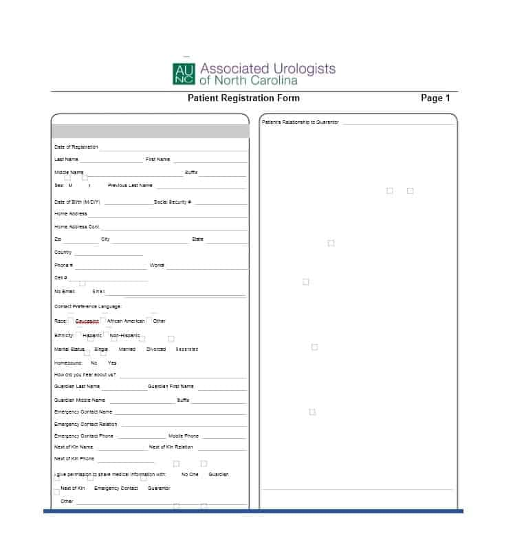 Patient Registration Form 16