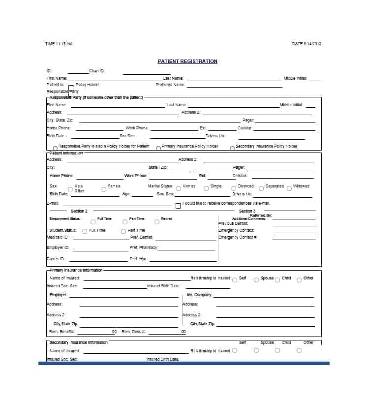 Patient Registration Form 18