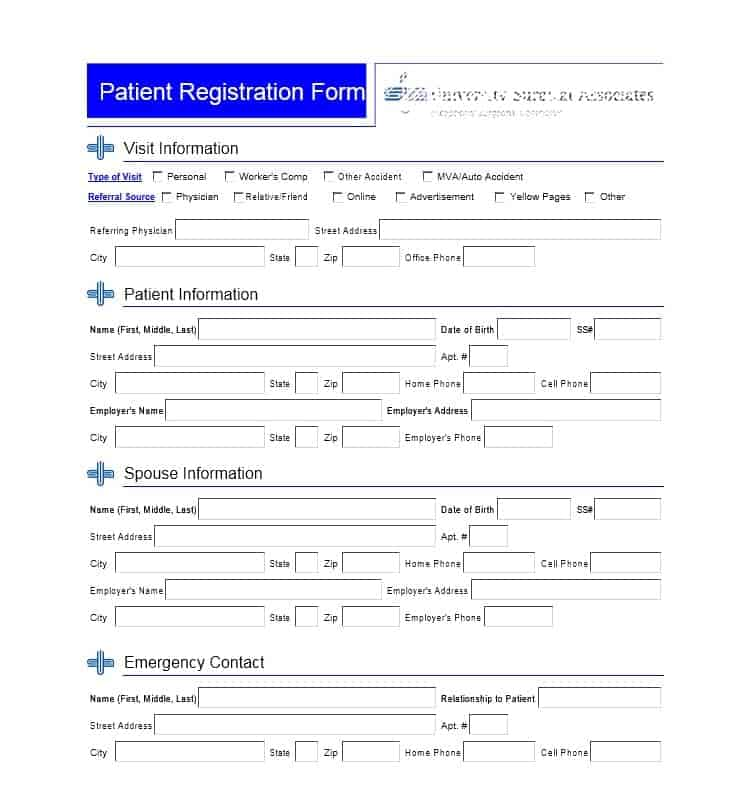 Patient Registration Form 19