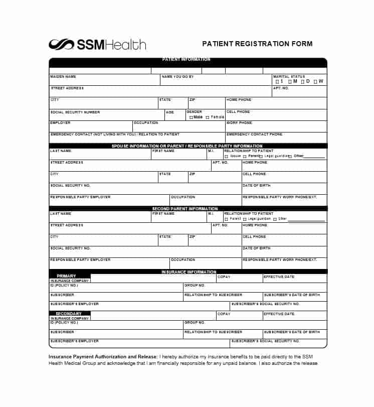 Patient Registration Form 21