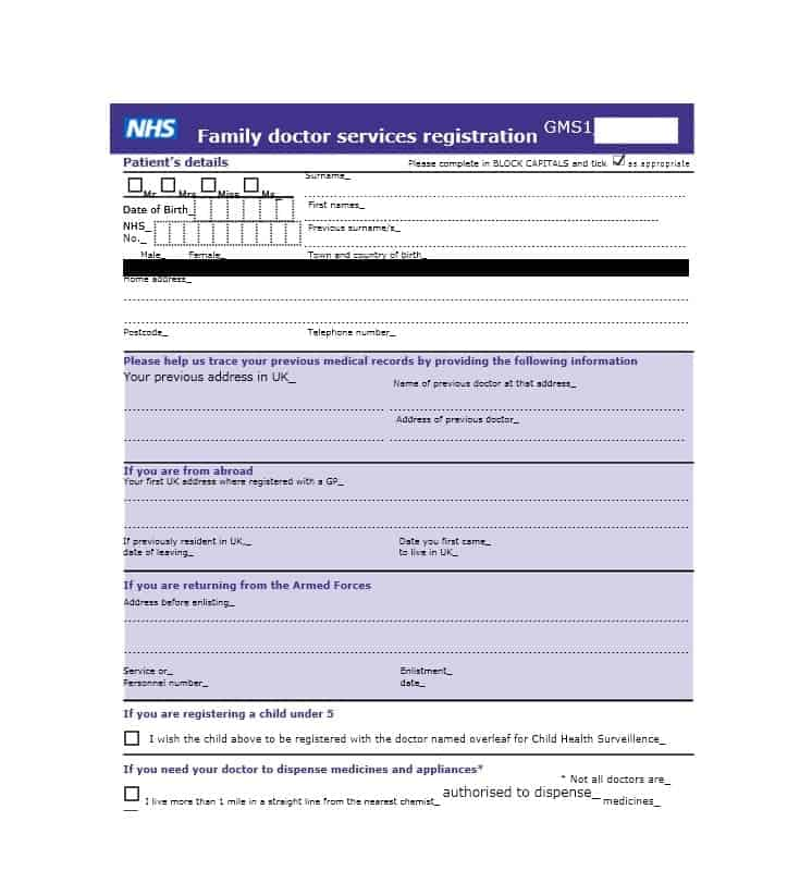 Patient Registration Form 22
