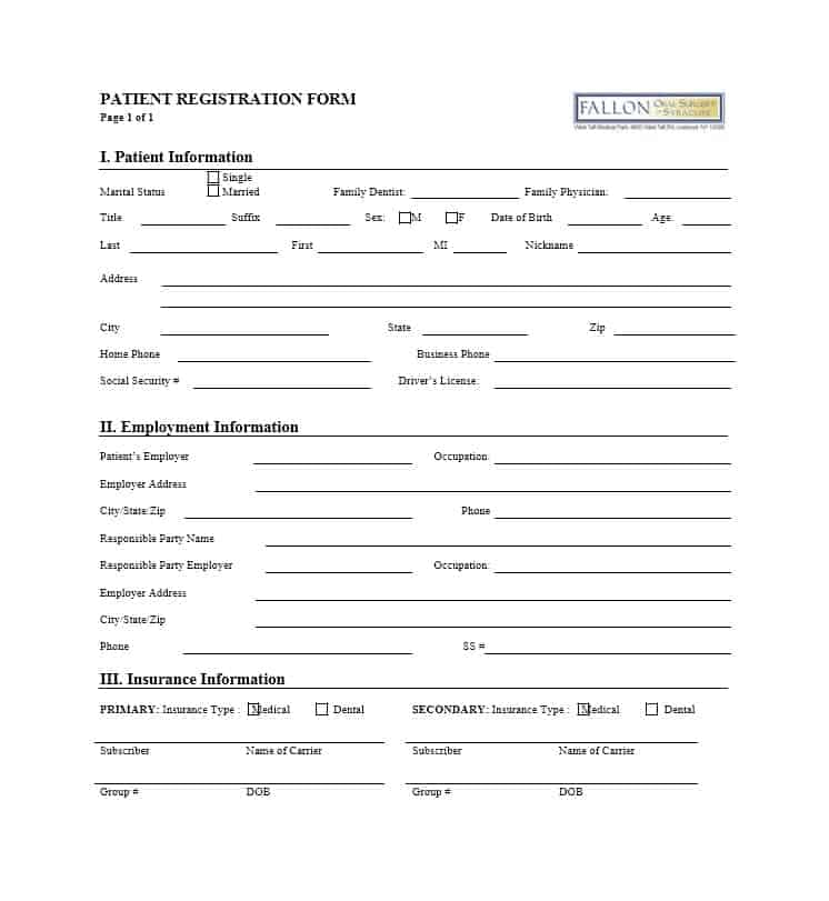 Patient Registration Form 23