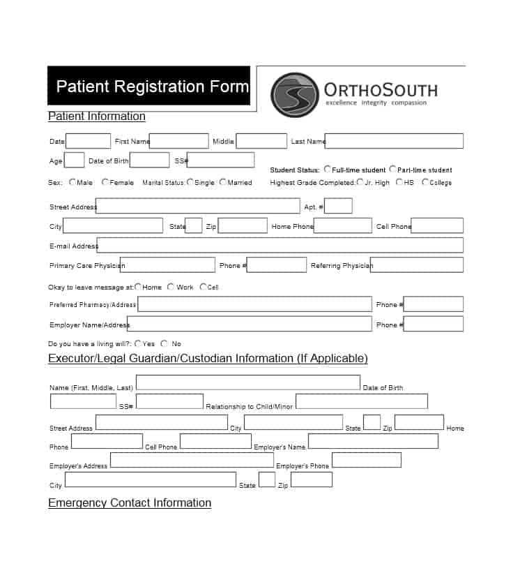 Patient Registration Form 24