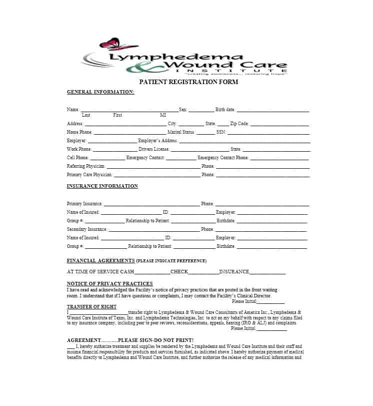 Patient Registration Form 25