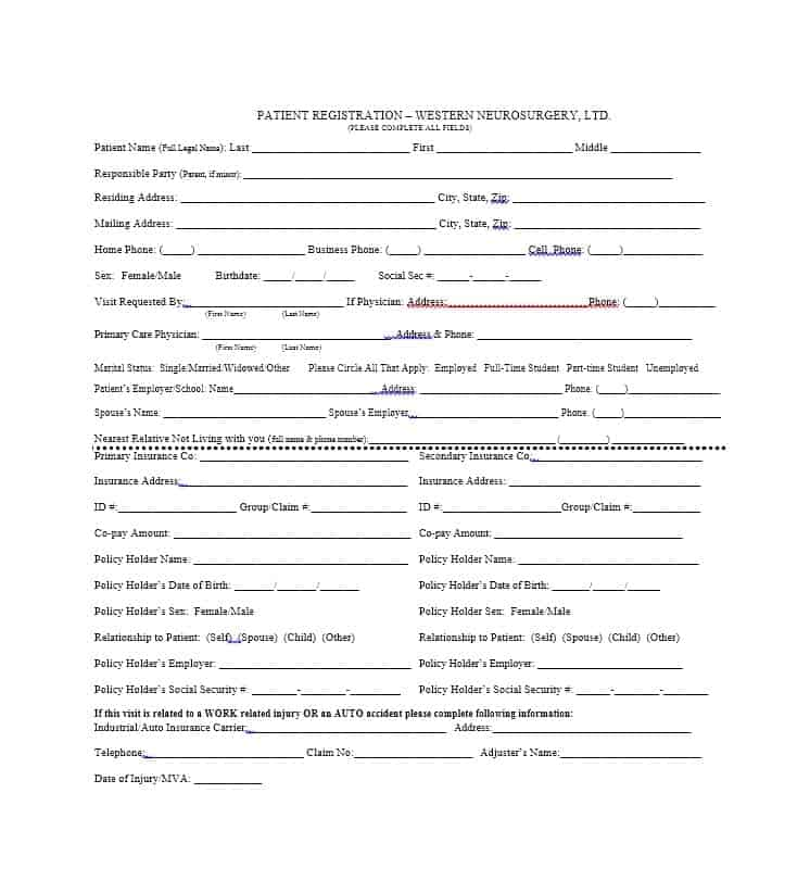 Patient Registration Form 27