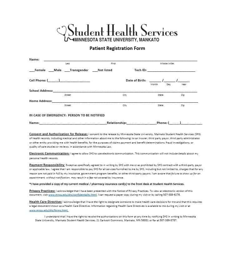 Patient Registration Form 28