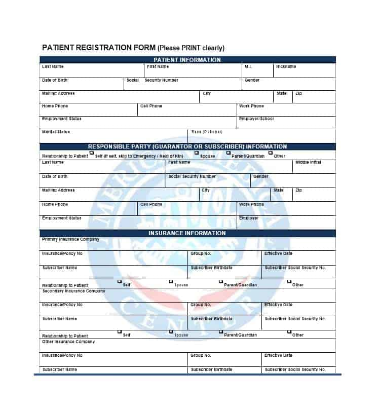 Patient Registration Form 31