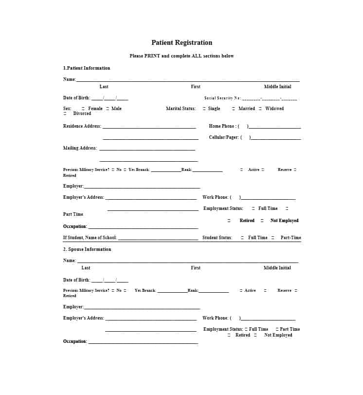 Patient Registration Form 33