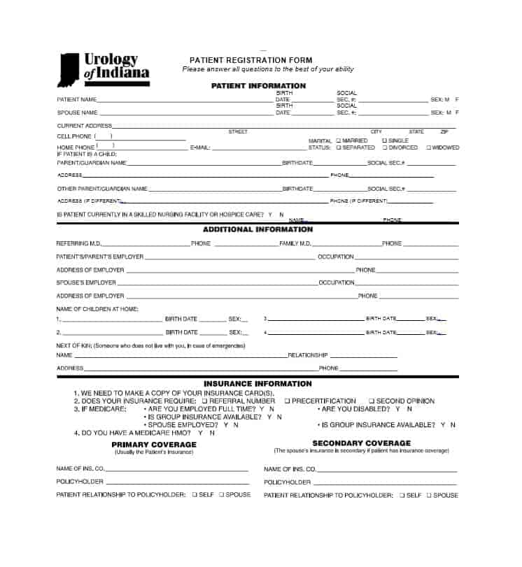 Patient Registration Form 37