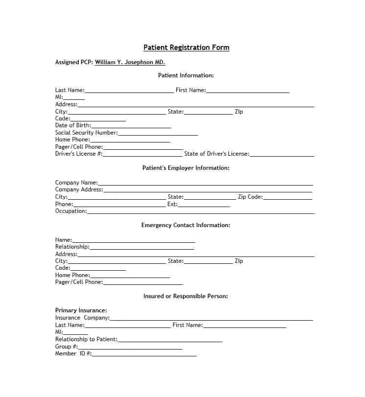 Patient Registration Form 38