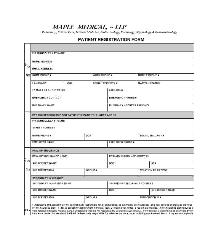 Patient Registration Form 39
