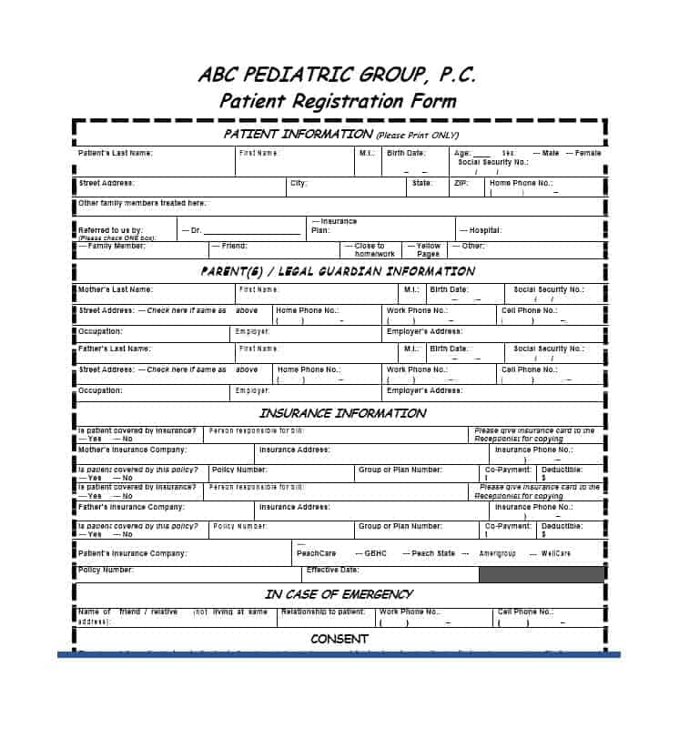 Patient Registration Form 41