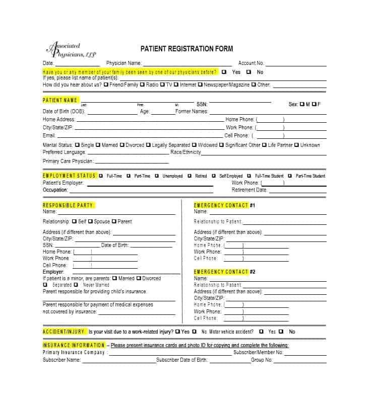 Patient Registration Form 42