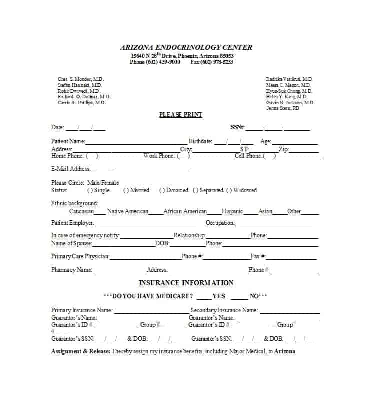 Patient Registration Form 44