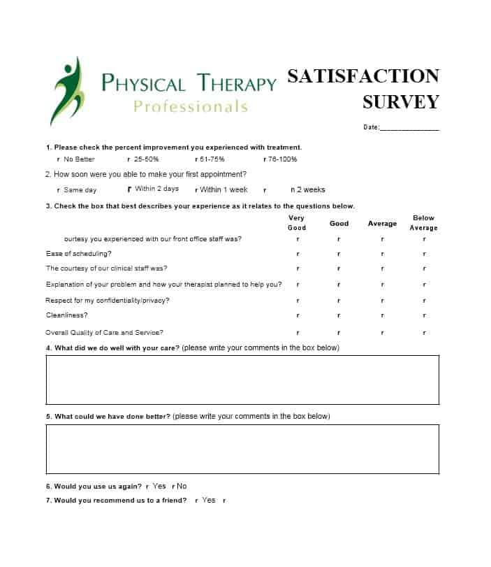Patient Satisfaction Survey Template 24