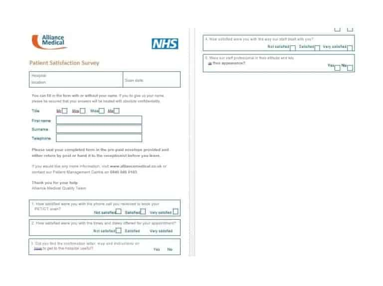 Patient Satisfaction Survey Template 40
