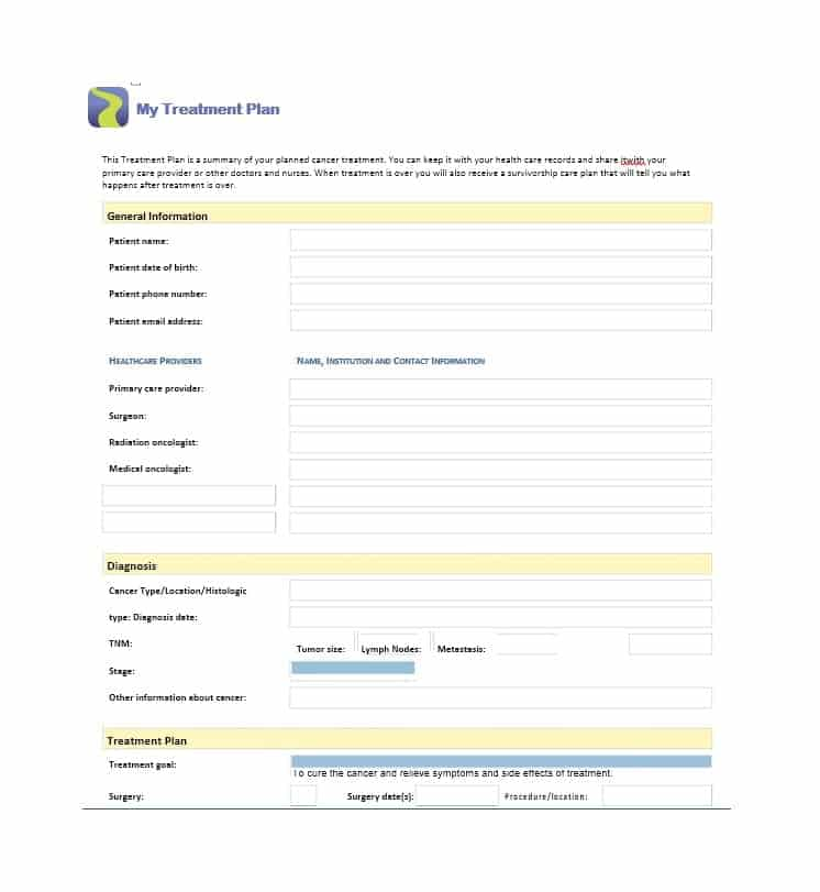 35 Treatment Plan Templates (Mental, Dental, Chiropractic ...