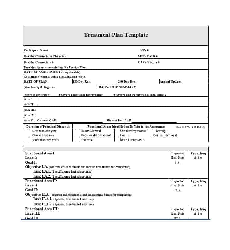 Treatment Plan Template 06