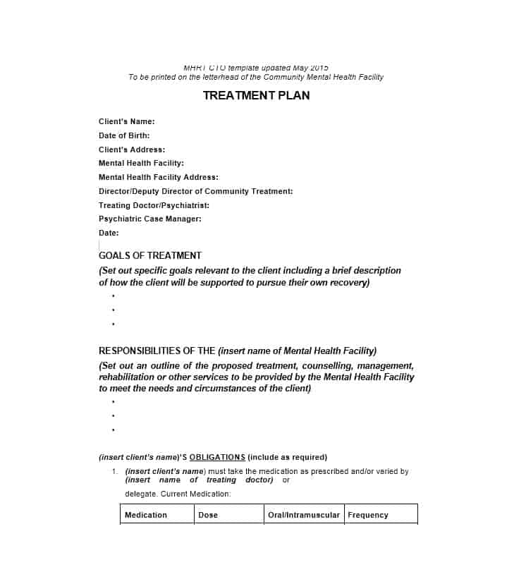 Treatment Plan Template 07