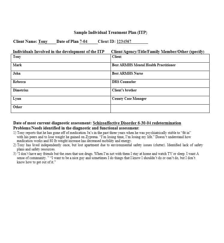 Treatment Plan Template 09