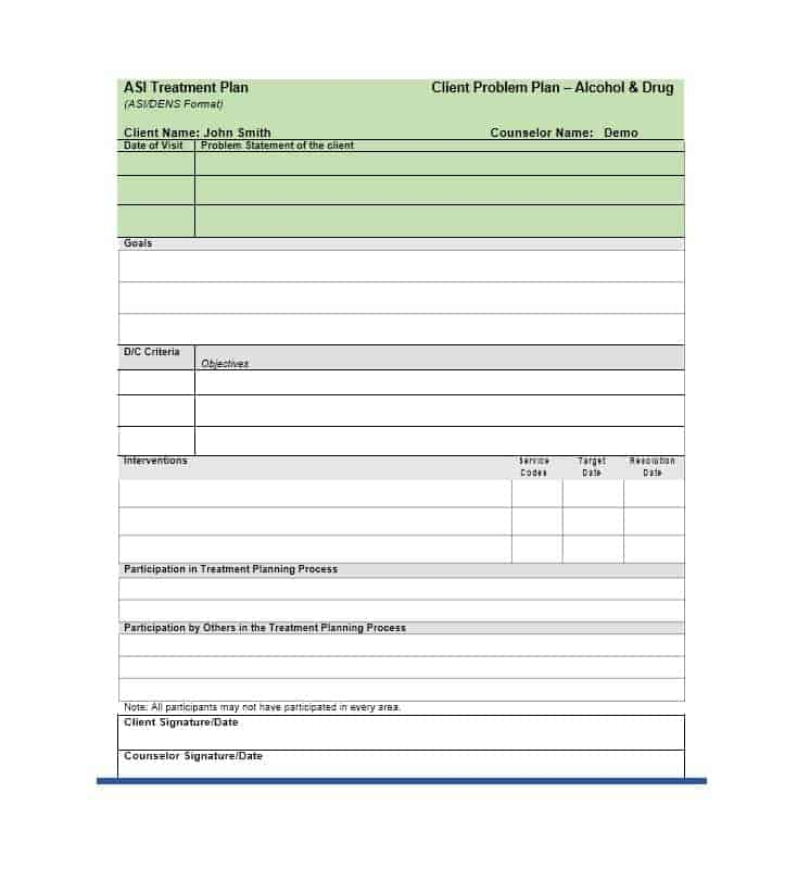 Treatment Plan Template 11