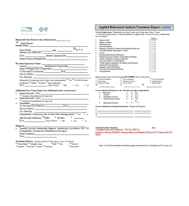 Treatment Plan Template 26