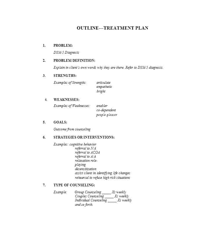 Treatment Plan Template 32