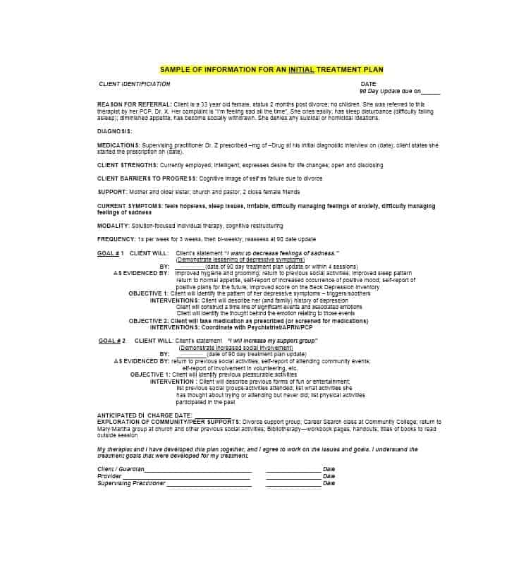 Treatment Plan Template 33