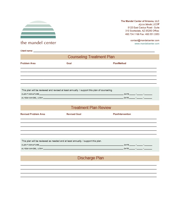 Treatment Plan Template 35